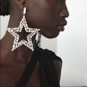 Star Bright Lg Star Rhinestone Earrings Any 2/$35